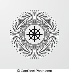 Vector illustration The minimalist retro logo - Vector...