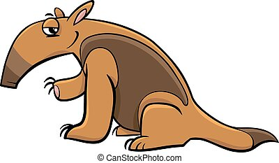 tamandua anteater cartoon - Cartoon Illustration of Tamandua...