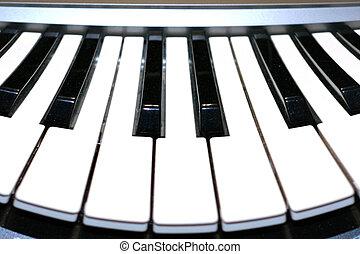 piano - abstract scene keys of the piano