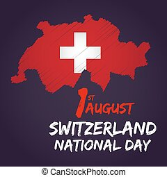 Switzerland National Day - Switzerland national day with...