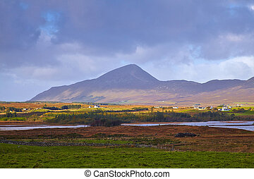 Co.Mayo, Ireland - Co.Mayo landscape with Croagh Patrick in...