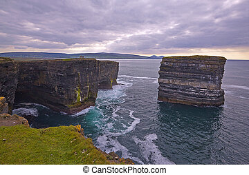 Downpatrick Head, North Mayo. - Sitting out in the wild...