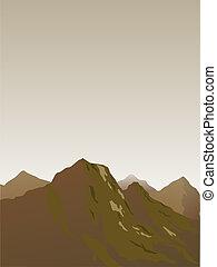 mountains - vector illustration of a mountains landscape