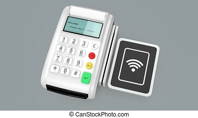 Concept of mobile payment - Animation of cashless mobile...