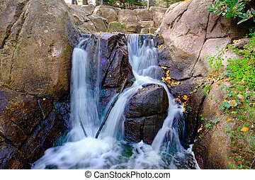 Manmade Waterfall Golden Gate Park - Golden Gate Park...