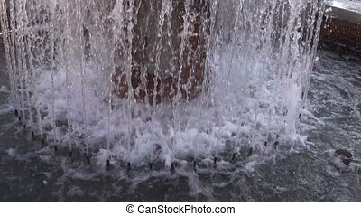 Fountain spraying water - Fountain sprinklers spraying water...