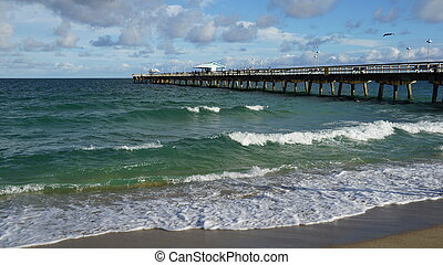 Lauderdale-by-the-Sea in Florida, USA