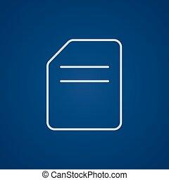 Document line icon.