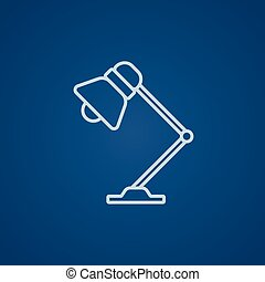 Table lamp line icon - Table lamp line icon for web, mobile...