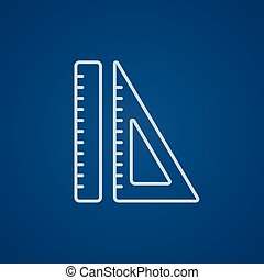 Rulers line icon - Rulers line icon for web, mobile and...