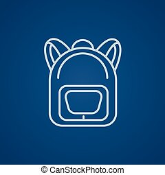 Backpack line icon - Backpack line icon for web, mobile and...