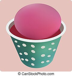 Shave Ice - Vector illustration of shave ice in cup