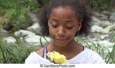 Sad Teen African Girl