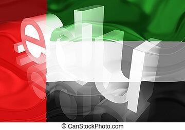 United Arab Emirates flag wavy education - Flag of UAE,...