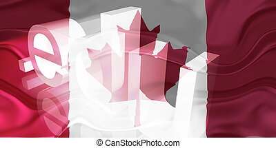 Flag of Canada wavy education - Flag of Canada, national...