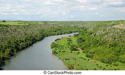 Chavon River in La Romana in the Dominican Republic