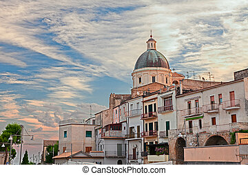 the ancient town Ortona, Abruzzo, Italy - cityscape with the...
