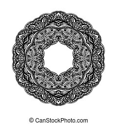 Patterned decorative element  form ring on white background
