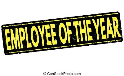 Employee of the year stamp