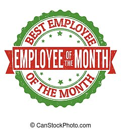 Employee of the month stamp