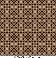 Seamless Vector Pattern With Golden Octagons - Geometric...