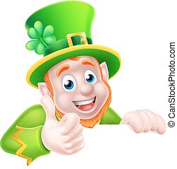 St Patricks Day Leprechaun Illustration - Leprechaun cartoon...