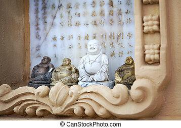 MInature buddhas - Image of miniature buddha statues.