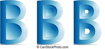 B character Logotype icon vector, Letter Logo