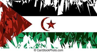Flag of Sahrawi Arab DemocraticRepublic.