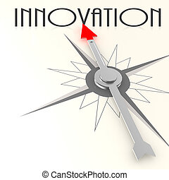 Compass with innovation word