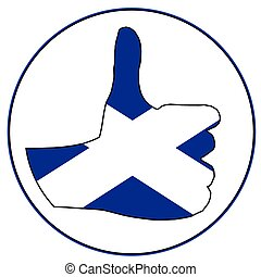 Thumbs Up Scotland - A Scottish hand giving the thumbs up...