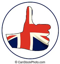 Thumbs Up England - A Union Jack hand giving the thumbs up...