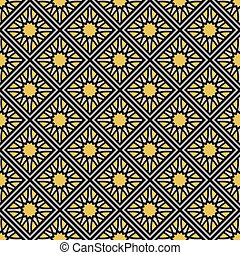 Vector Geometric Pattern - Seamless texture with geometric...