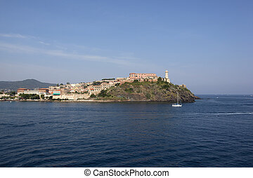 elba - the harbour of Portoferraio, Elba Island