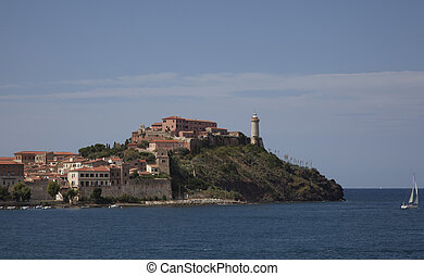 elba - the harbour of Portoferraio, Elba Island.