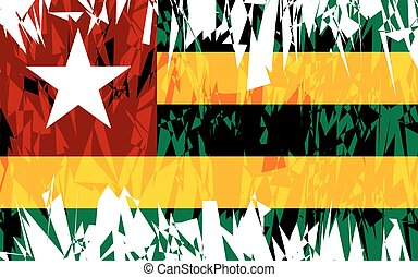 Flag of Togo - Flag of Togo in grunge style Vector...