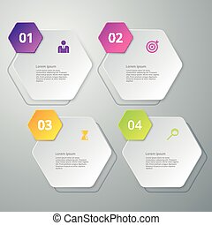 Vector illustration infographics four options - Vector...