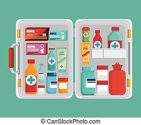 Medical heatlhcare graphic design, vector illustration eps10