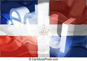 Flag of Dominican Republic wavy education - Flag of...