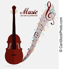 Music art graphic design, vector illustration eps10