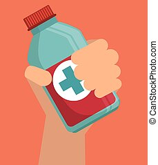 Medical heatlhcare graphic design, vector illustration eps10