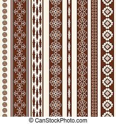 Border decoration elements - Indian Henna Border decoration...
