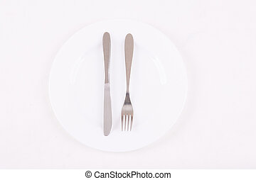 Tableware is on the table - Fine tableware. Simple set of...