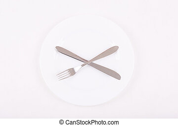 Dinnerware is on the table - Basic crockery. Simple set of...