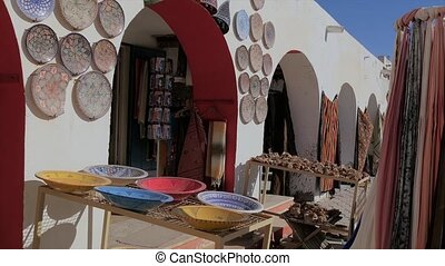 Tunisia, Douz, Bazaar - market place in douz, tunisia