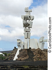 The modern  sculpture designed by Cesar Manrique, Lanzarote, Canary Island, Spain.