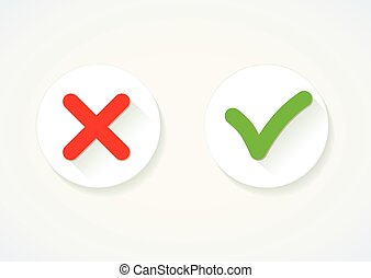 Yes or No Vector icon