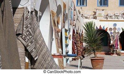 Tunisia, Douz, Bazaar. - market place in douz, tunisia