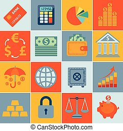 Finance icons, set infographics