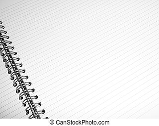 White lined notepad